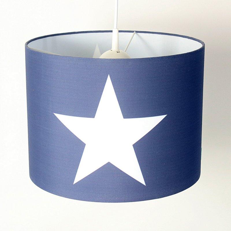h ngelampe roomstar blau mit stern weiss diameter 35cm dannenfels 39 90. Black Bedroom Furniture Sets. Home Design Ideas