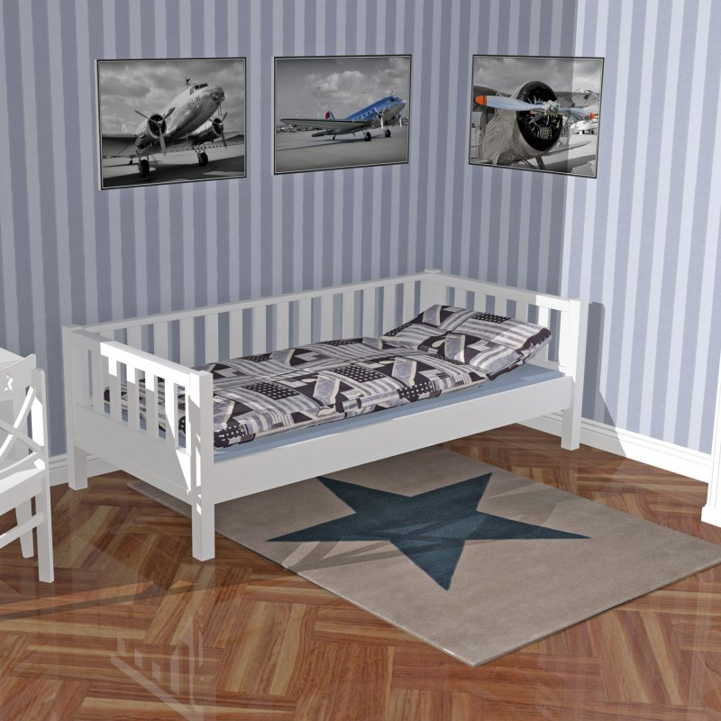 tagesbett daybed roomstar weiss 90x200cm dannenfelser kinderm b 499 00. Black Bedroom Furniture Sets. Home Design Ideas