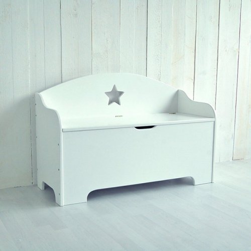 kinderbank roomstar mit stauraum und stern weiss 100cm dannenfel 169 00. Black Bedroom Furniture Sets. Home Design Ideas