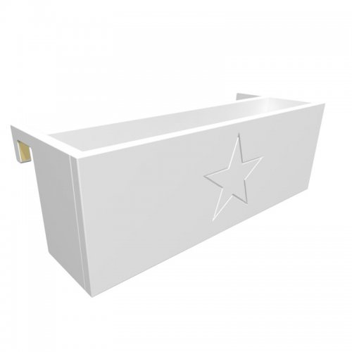 ROOMSTAR shelf for high beds, white, 50cm