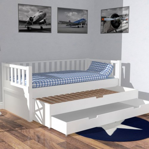 kojenbett ii roomstar weiss mit g stebett und stauraumschublade 998 00. Black Bedroom Furniture Sets. Home Design Ideas