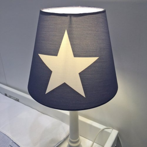 tischlampe roomstar mit stern blau weiss h he 44 5cm dannenfelse 34 50. Black Bedroom Furniture Sets. Home Design Ideas