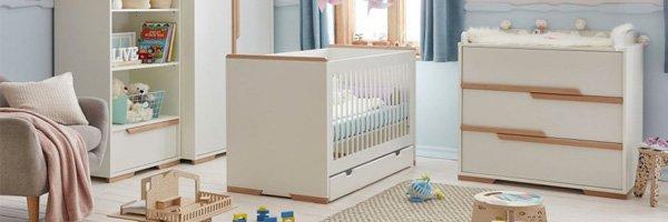 Kindermöbel-Serie KOPENHAGEN, weiß oder grau