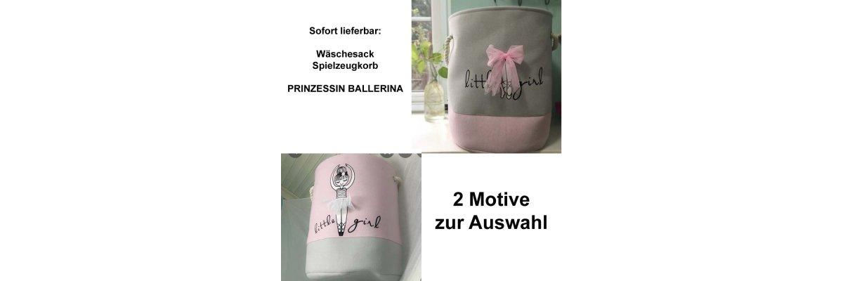 Wieder auf Lager und sofort lieferbar - Wäschesack Prinzessin Ballerina sofort lieferbar