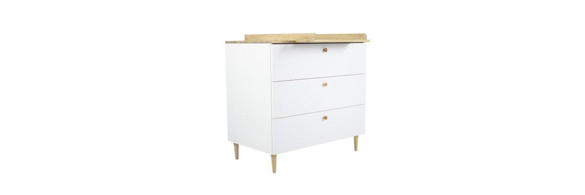 Wickelkommode VISBY Weiss/Eiche - Wickelkommode VISBY Weiss/Eiche Oliver furniture
