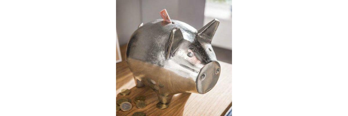 Neuheit:  XL SPARSCHWEIN PIG aus Aluminium - Neuheit:  XL SPARSCHWEIN PIG aus Aluminium