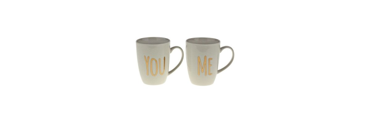 Becher-Set: YOU & ME - Becher-Set: YOU & ME