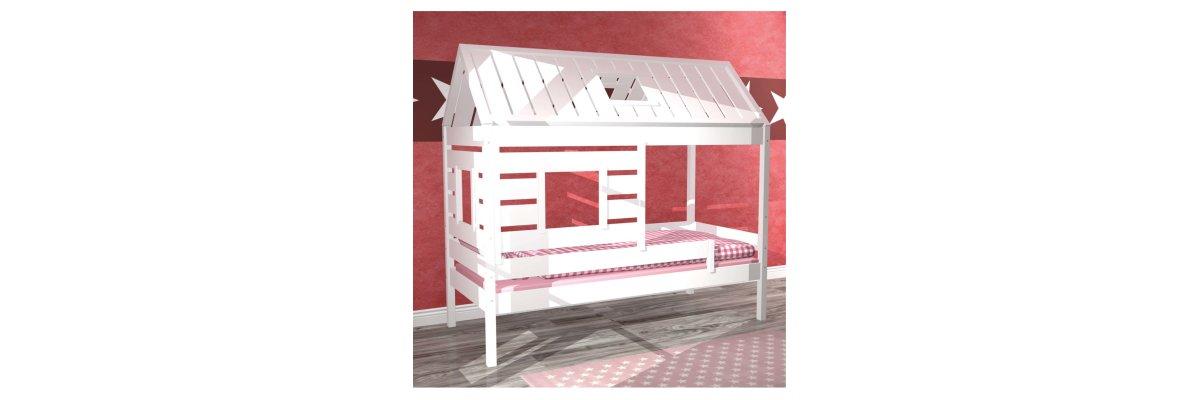 Cooles Kinderbett KIDS HOUSE aus Massivholz - Cooles Kinderbett KIDS HOUSE aus Massivholz - in nur 3 Tagen bei Ihnen zuhause