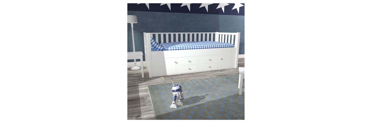 New: Captain\'s bed ROOMSTAR in scandinavian Design - New: Captain\'s bed ROOMSTAR in scandinavian Design