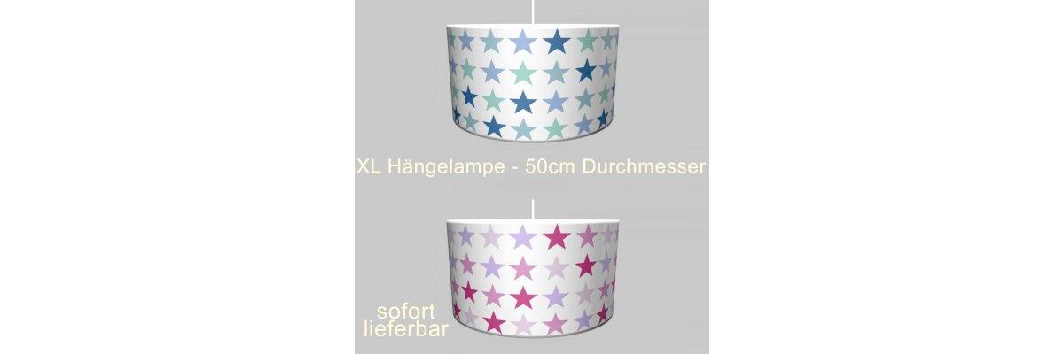 Neuheit: XL Hängelampe MULTI-STARS, verschiedene Farben, Druchmesser 50cm - Neuheit: XL Hängelampe MULTI-STARS, verschiedene Farben, Druchmesser 50cm