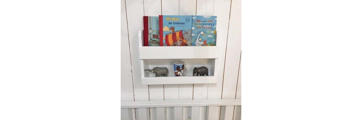 Neu: Wand-Bücherregal / Regal für Hochbetten, weiss - Neu: Wand-Bücherregal / Regal für Hochbetten, weiss
