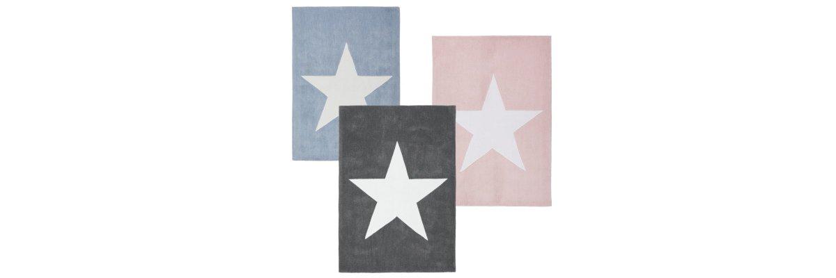 Teppich STAR wieder auf Lager - großer oder kleiner Stern wählbar - Teppich STAR sofort lieferbar - großer oder kleiner Stern wählbar