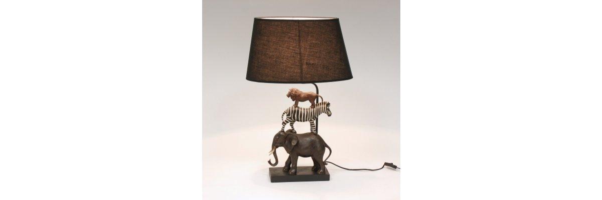Neuheit: Tischlampe ZOO, Höhe 70cm - Neuheit: Tischlampe ZOO, Höhe 70cm