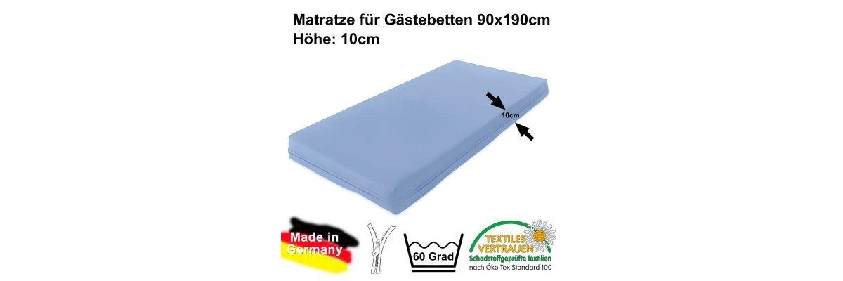 Wieder lieferbar: Gästebettmatratze 190x90cm - MADE IN GERMANY - Wieder lieferbar: Gästebettmatratze 190x90cm - MADE IN GERMANY