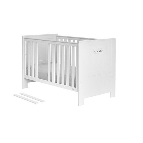 Play bed CASTLE, white, solid wood, 90x200cm