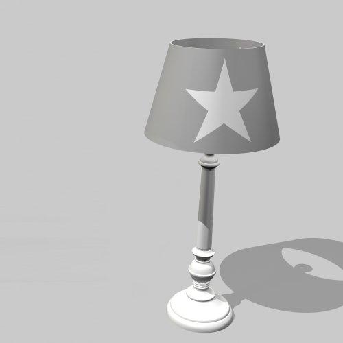 Tischlampe ROOMSTAR mit Stern, grau/weiss, Höhe: 44,5cm