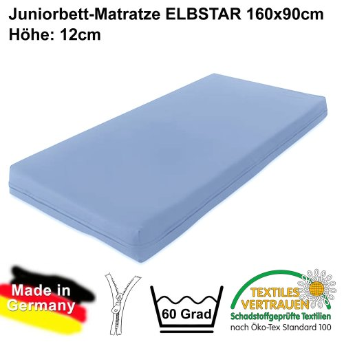 certified mattress for junior bed 90x160cm, ÖKOTEX 100