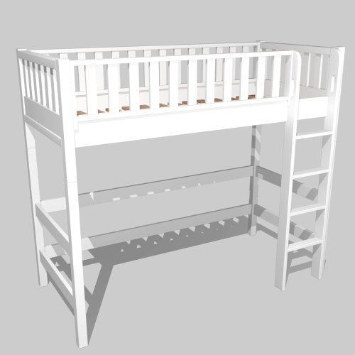 Loft bed ROOMSTAR, height 185 cm, white, convertible to a daybed