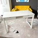 Schreibtisch ROOMSTAR, weiss, 120x60x76cm, 2 Schubladen + 1 Fach