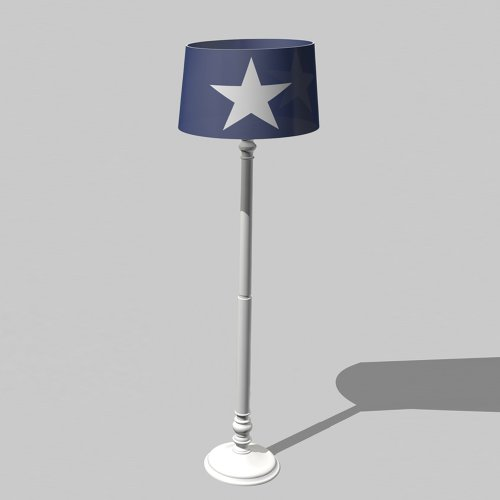 ROOMSTAR kids floor lamp, blue/white, height: 165cm