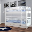 ROOMSTAR bunk bed, white, convertible in 2 single beds