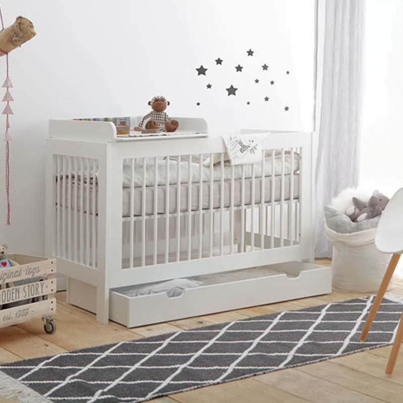 babybett square f r kleine r ume 140x70 inkl. Black Bedroom Furniture Sets. Home Design Ideas