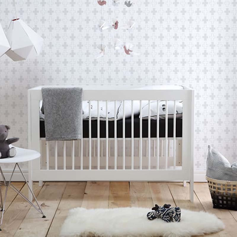 babybett square f r kleine r ume 140x70 inkl. Black Bedroom Furniture Sets. Home Design Ideas