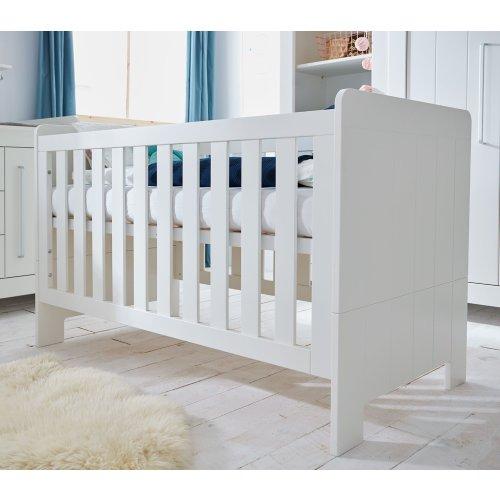Babybett Gitterbett COTTAGE, grau oder weiss, 140x70cm
