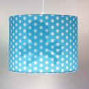 kids ceiling lamp, blue/white dots, Motic OCTOPUS, 35cm