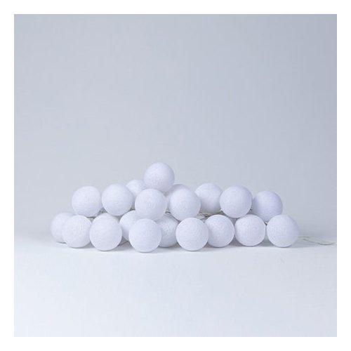 Lifetime Lichterkette mit Baumwollkugeln weiß 8182