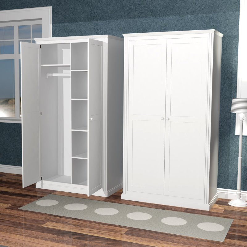 kinder kleiderschrank roomstar 2t rig weiss breite. Black Bedroom Furniture Sets. Home Design Ideas