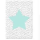 Kinderzimmer-Bild STAR, Stern mint, 40x50cm, auf Leinen