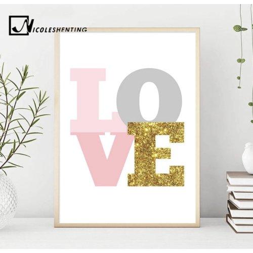 Kinderzimmer-Bild LOVE, 40x50cm, auf Leinen