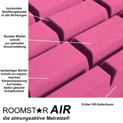 kindermatratze jugendmatratze roomstar air hr kaltschaum 90x200x16c 349 00. Black Bedroom Furniture Sets. Home Design Ideas