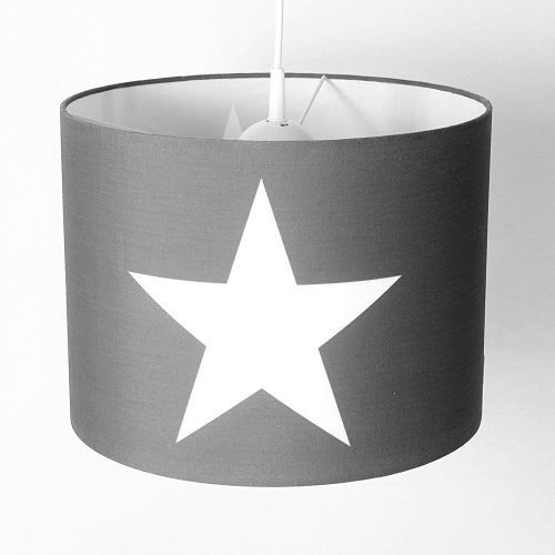 ROOMSTER hanging lamp with star white gray, diameter 35 cm