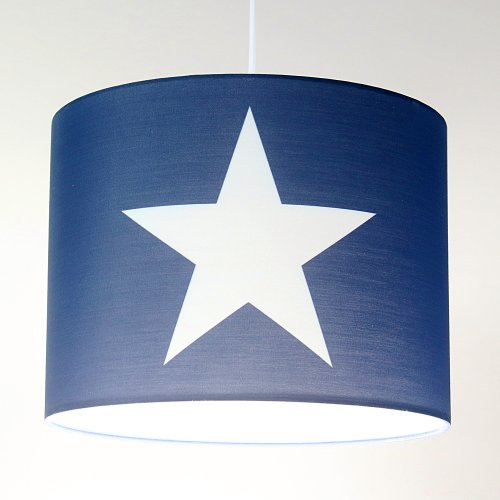 ROOMSTAR hanging lamp with star white blue, diameter 35 cm