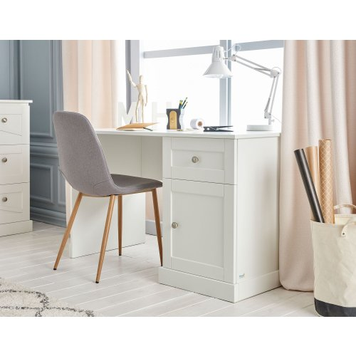Schreibtisch OPULENCE, weiß, Schublade, 2 Fächer, Breite: 125cm
