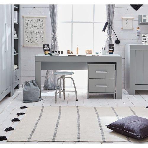 XL Schreibtisch COTTAGE, weiß oder grau, Breite: 150cm