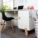 Schreibtisch OLIVER, natur/weiss, Breite: 120cm