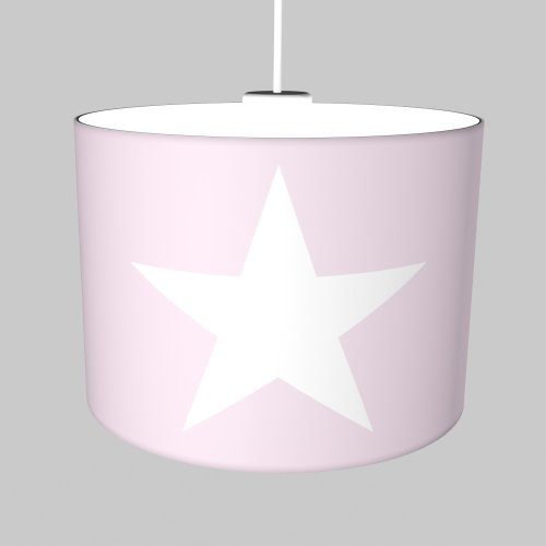 ROOMSTAR hanging lamp with star white pastel-rose, diameter 35 cm