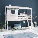 Kopie von Kojenbett FREJA von FLEXA, halbhoch, weiss oder blau aqua, 4 große Schubladen