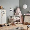 Leander Babybett Luna 60x120cm Weiss/Eiche, 720120-03