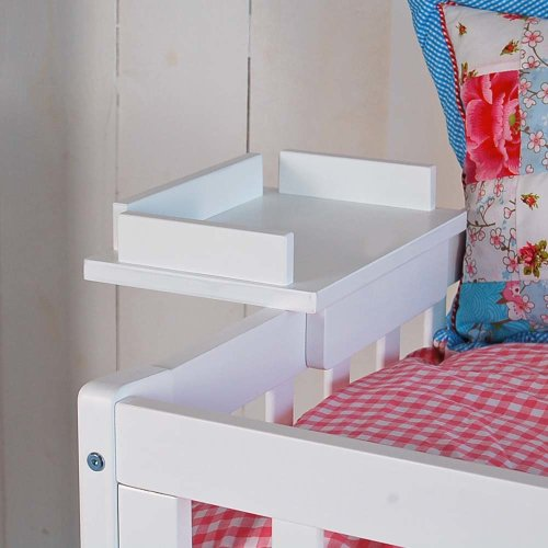 Cup holder for high bed CHALET, white, 28x21cm