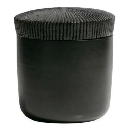 BEPURE HOME Gefäß aus Mangoholz schwarz, ø15x16cm