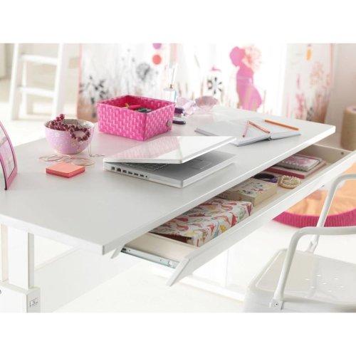 Lifetime Schublade für 120cm Schreibtische weiß lackiert 255-10