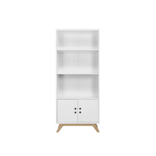 BOPITA Bücherregal Lynn Weiß/Natur, Höhe: 180cm