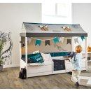 LIFETIME 4-in-1 Kinderbett/Hochbett/Himmelbett für...