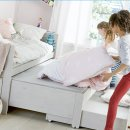Lifetime Kojenbett mit Gästebett, Bettkasten und Rollboden weiß, 47109-10