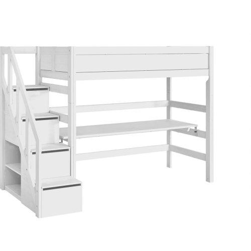 Lifetime Hochbett 177cm  mit Treppe und Rollboden weiß, 4940-10