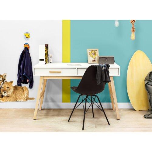 BOPITA Schreibtisch FENNA, 2 Schubladen, weiss/natur, 126cm Breit